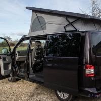 VW T5 roof raised