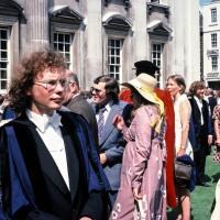 Stephen Blasdale at graduation day, Senate House, Cambridge