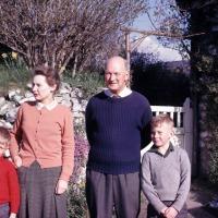 Peter Blasdale, Jean Blasdale, Charles Blasdale, Stephen Blasdale  at Linnington Cottage, Wambrook, Chard