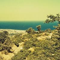 View of the island of Samothraki from inland