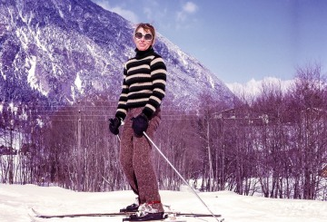 Mike and Betty skiing in Austria