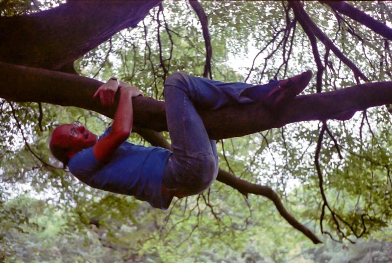 Steve climbing