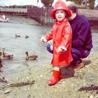 Feeding the ducks at The Haven, Hill Head