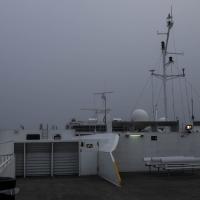 Fog on trip to Gurnsey