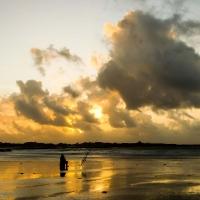 Fisher man  on Vazon Bay, Guernsey