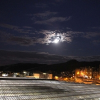 Waverley Station in moon light