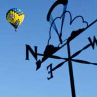 Hot air balloon and windvane