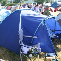 Our tent by Gate E