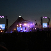 Pyramid at night with Stevie Wonder
