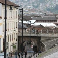 Ecuador, Quito. La Ronda in the historic area.