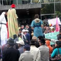 Ecuador, Quito. Demonstration