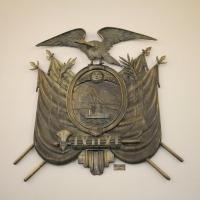 Ecuador, Quito. Presidential Palace, Ecuador coat of arms