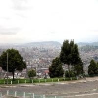 Ecuador, Quito. View of Quito from the Virgin.