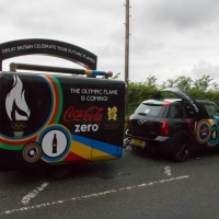 Olympic Torch in Stoke Mandeville
