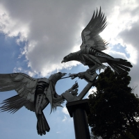 Malverns - 25th May 2013 Buzzards Sculpture: Rosebank Gardens in Malvern