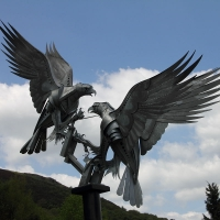 Malverns - 25th May 2013 Buzzards Sculpture: Rosebank Gardens in Malvern