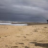 Skeleton coast lone angler