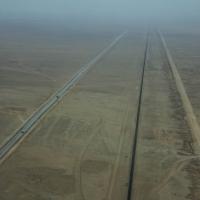 View of road to Swakopmund
