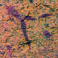 Rock art at the Spitzkoppe site, Namibia