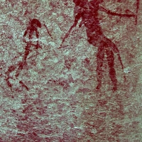 Rock art at Ai Aba Lodge, Erongo region, Namibia