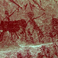 Rock art at Omandumba, Namibia
