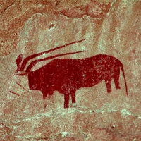 Rock art at the Bushman Camp, Namibia