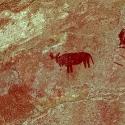 Rock art at the Bushman Camp, Namibia