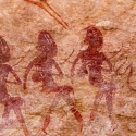 Namibia, Rock art, Brandberg - School Girls