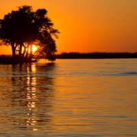 Sunset on Chobe