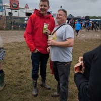 Professor Green in the hospitality area
