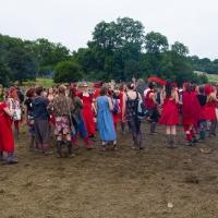 Singing at the stone circle