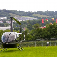 Helicopter at Love Fields