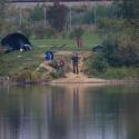 Cormoranche-sur-Saone, fishing pond at campsite