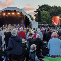 Glastonbury Abbey Extravaganza, Brian Wilson on screen