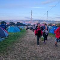 Early Monday morning Glastonbury leavers