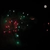 Glastonbury fireworks on Wednesday