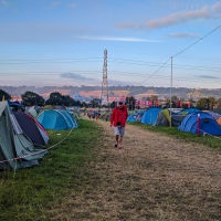Early Monday morning Glastonbury leavers