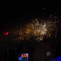 Glastonbury fireworks on Wednesday