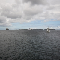 The Oriana off Herm Island