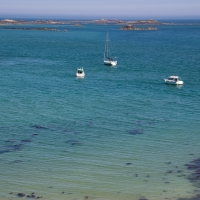 Boats at Anchor off Herm in Belvoir Bay
