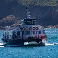 Herm Island, Trident marine arriving