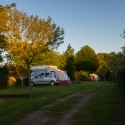 Guernsey campsite at sunset