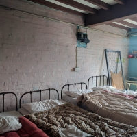 Southwell Workhouse, bedsit still in use in the 70's