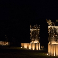 Culzean Castle entry gates at night