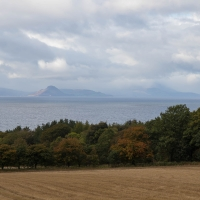 Culzean Castle view from campsite