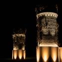 Culzean Castle entry gates at night