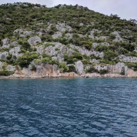 Kekova, look at the setps leading to water