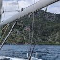 Sailing into Tomb Bay