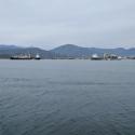 Ships offloading boats at Fethiye,