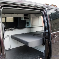VW T5 seat converted to bed